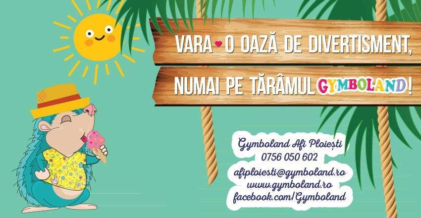 Vara – o oaza de divertistment numai pe taramul Gymboland!