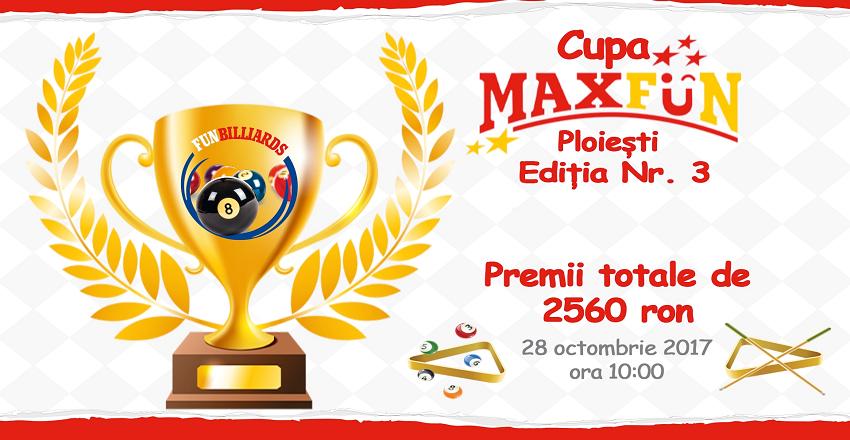 Cupa de biliard MaxFun Ploiesti