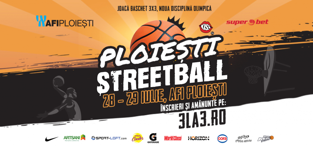 AFI Ploiești găzduiește faza locală a competiției 3×3 Sport Arena Streetball Tour 2018