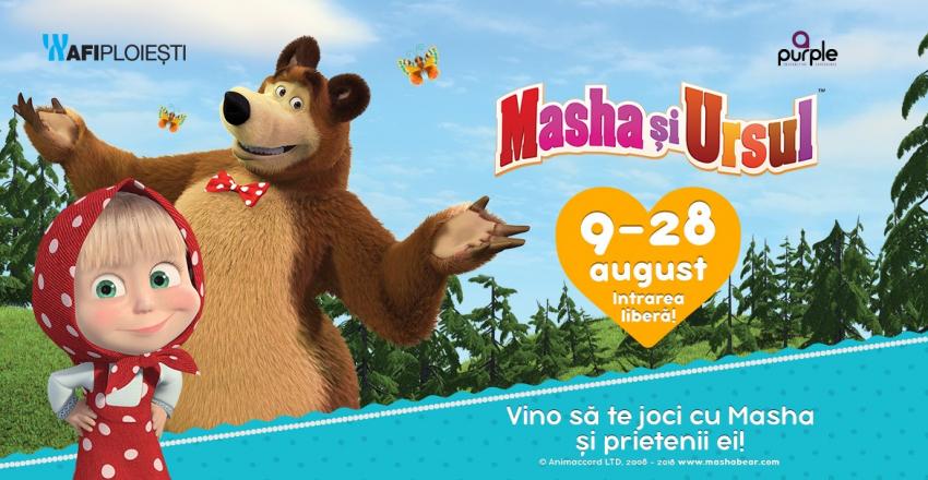AFI Ploiești găzduiește expoziția pentru copii Masha și Ursul