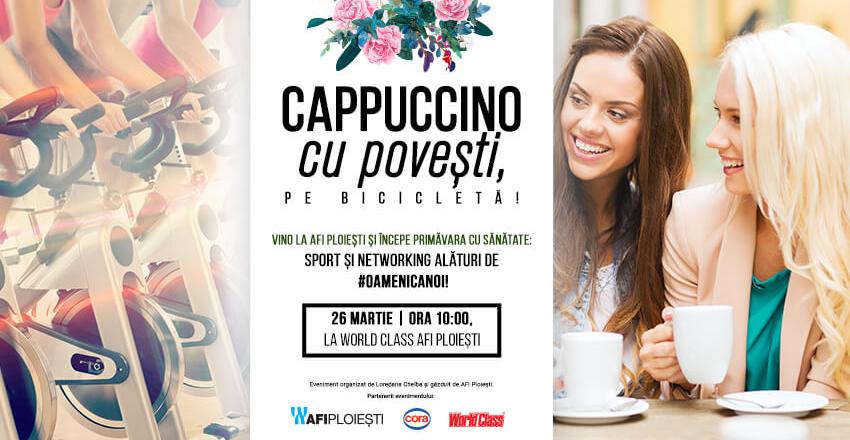 Cappuccino cu povesti, pe bicicleta!