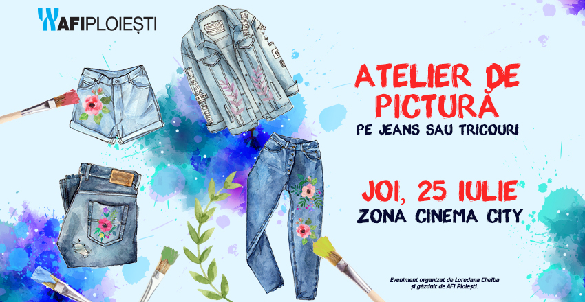 Atelier de pictura pe jeans sau tricouri