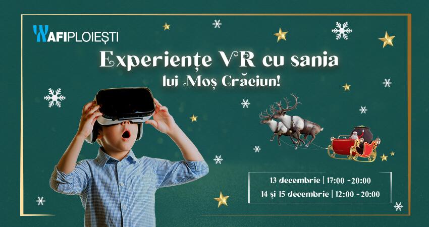 Experiente VR cu sania lui Mos Craciun!