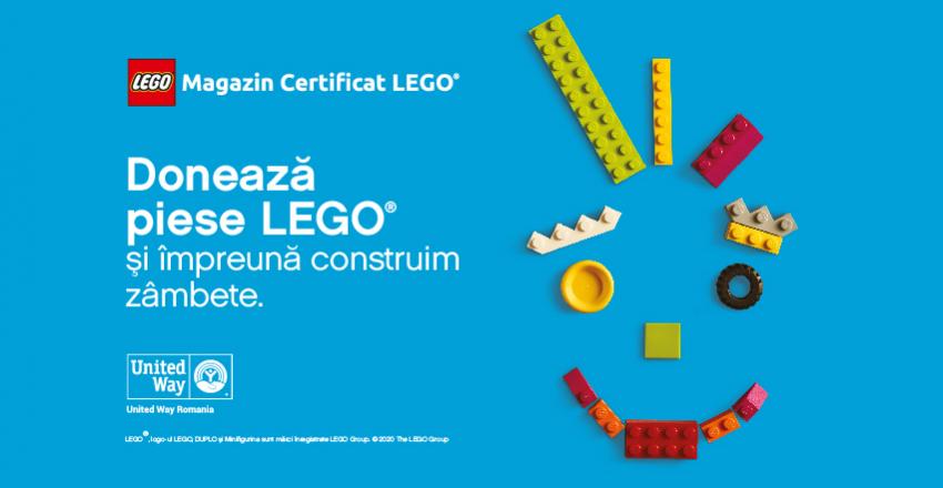 Doneaza piese Lego si impreuna construim zambete.